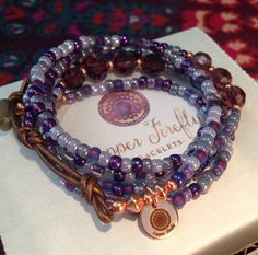 Abalone And Lapis Bracelet Boho Bracelet by ShopCopperFirefly