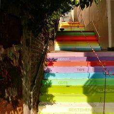 #Escalera alemana #Escaleras_decoradas #Decorated_stairs