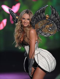 Steam Punk Wings..Model Candice Swanepoel  walks the runway during the 2009 Victoria's Secret fashion show at the Armory on November 19, 2009, in New York City.Dimitrios Kambouris/WireImage.com - Wednesday, December, 2, 2009, 7:2 PM