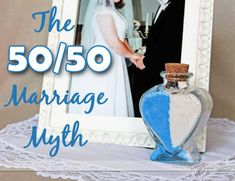 The 50/50 Marriage Myth - why giving 50% isnt enough in your marriage! www.thedatingdivas.com #marriage