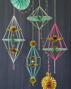 Paper Fan Himmeli DIY by ThussFarrell for Oh Joy
