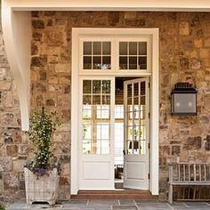 Beautiful entry & stone