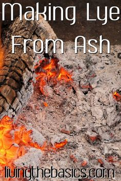 Learn how to make lye from wood ash safely to be used in homemade soaps. You can now make your own entirely from scratch! Homestead Survival, Survival Food, Camping Survival, Survival Prepping, Survival Skills, Survival List, Prepper Food, Doomsday Prepping, Survival Stuff