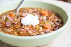 Sweet Spicy Cajun Bean & Ham Soup Recipe