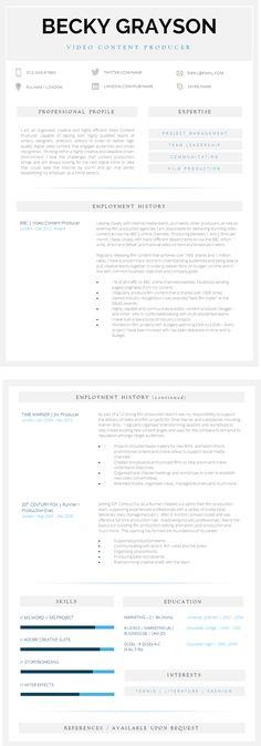 20 best Best Resume Templates images on Pinterest   Resume templates ...