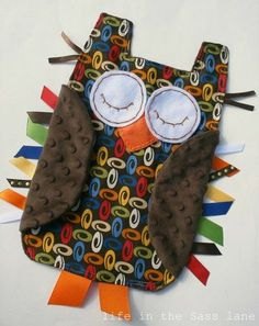 owl taggie blanket!