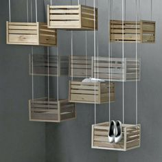 hanging display-- Such a good display idea for a pop-up shop--Popup Republic