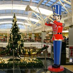 "Giant Toy Soldier with Trumpet  9 ft H-Huge nine foot Toy Soldier with Tumpet.  It is made of durable, chip resistant fiberglass construction. Suitable for commercial or residential use indoors or outdoors. $1,699.00 Dimensions L 71.5"" (including Trumpet) W32.25"" H108"""