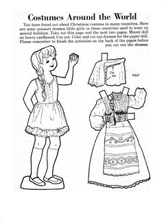 "TMO_paper doll give-away_Jan 2014_1 of 4. Easily ""clean-up"" and color your B & W paper dolls pages in MS Paint or another editing program. See our ""How-to"" Guides for more information. shop: tatemuseumonline.etsy.com"