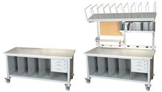 packing table and shipping station workbenches