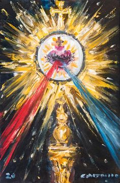 Most Sacred Hearts IV - Jose Luis Castrillo Jesus Painting, Heart Painting, Acrylic Painting Canvas, Catholic Art, Religious Art, Jesus E Maria, Jesus Art, Biblical Art, Blessed Mother