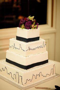 Detroit skyline cake. NOBODY STEAL THIS! <3