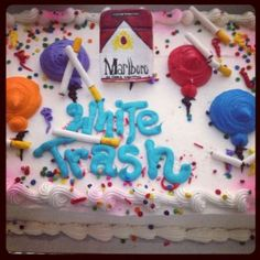 White trash party cake was fun