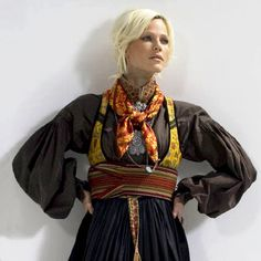 Modern style of Norwegian Telemark Bunad Tribal Dress, Ethnic Dress, Folk Costume, Costumes, Norwegian Clothing, Rite De Passage, My Heritage, Traditional Dresses, Dress Me Up