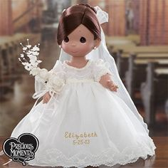 Precious Moments Bride Doll -- Oh! Brunette Bride, Blonde Bride, Precious Moments Wedding, Precious Moments Figurines, Biscuit, Dolly World, Polymer Clay Ornaments, Wedding Doll, Personalized Gifts For Men