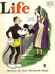 Life Magazine Copyright 1934 Micky Mouse And Pocahontas - www.MadMenArt.com…