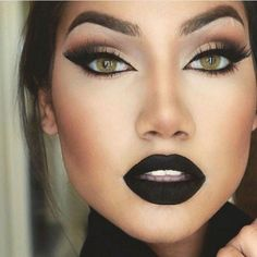 Best Ideas For Makeup Tutorials    Picture    Description  Black Eyeshadow And Matte Lipstick ❤ liked on Polyvore featuring beauty products, makeup, lip makeup and lipstick    - #Makeup https://glamfashion.net/beauty/make-up/best-ideas-for-makeup-tutorials-black-eyeshadow-and-matte-lipstick-%e2%9d%a4-liked-on-polyvore-featuring-beauty-produc/