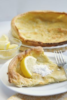 Dutch Babies (Puffy Pancake)..gluten free recipe included.  (the picture is the gluten free version)