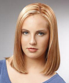 "Medium Straight Formal Bob Hairstyle - Light Blonde (Copper) ""Formal Bob"" (sfh note)"