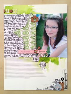 Recently - scrapbook layout by Szabina Korsós @scrapfellow