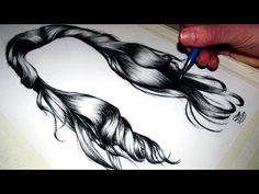 How to draw realisic hair -Lethal Chris Drawing