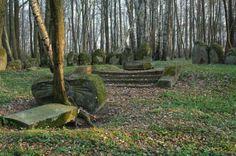 """Markowo - """"megalityczny"""" cmentarz Dohnów."""