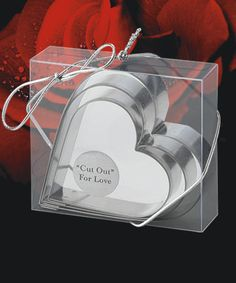 Cut Out For Love Heart Shaped Cookie Cutters #heart #wedding #favors #cookieCutter
