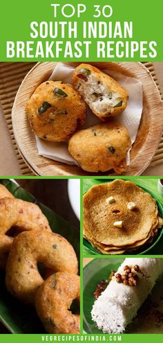 Breakfast is the most important meal of the day right? So why not start it off on the right foot! Try this collection of breakfast recipes from Southern India this week! These simple popular recipes are sure to please in the morning! South Indian Vegetarian Recipes, South Indian Breakfast Recipes, Vegetarian Breakfast Recipes, South Indian Food, Indian Food Recipes, Andhra Recipes, India Food, Cafe Food, Cooking Recipes