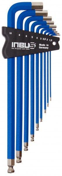 INBUS® 70280 - Blau 9tlg. 1,5-10mm Made in Germany      Satz 9tlg. 1.5-10mm     hochwertig in blau pulverbeschichtet     optisch sehr ansprechend und funktional     10 Jahre Garantie     Marke: INBUS® - Das Original seit 1934.  http://www.inbus.de/home/inbus-farbcodiert/48/inbus-70280-inbusschluessel-satz?c=8