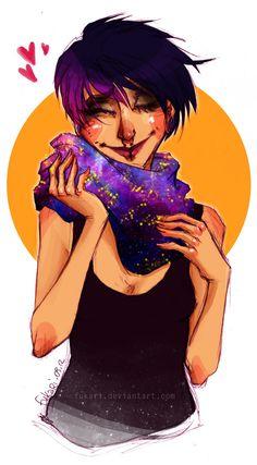 galaxy scarf by Fukari*