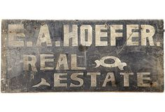 1920s Real Estate Sign on OneKingsLane.com