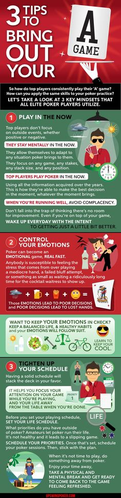 improve poker mindset and bring out A game infographic
