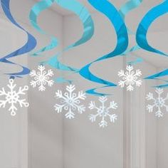 Having a kids birthday party - Frozen inspired - check out these unique ceiling hanging decorations