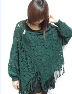 Lace Jacket and Scarf 2 in 1: Love it! {an interesting model of sweaters: free crochet patterns | make handmade, crochet, craft}