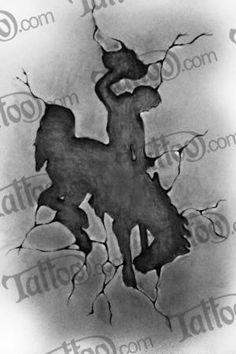 State Of Wyoming Bucking Horse Logo