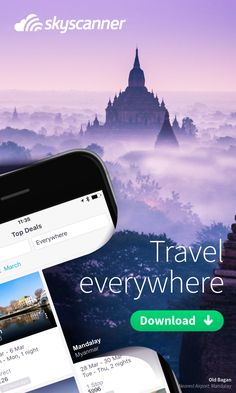 Choose your next adventure with Skyscanner's award-winning app. Skyscanner searches millions of flights from over 1,200 travel partners in seconds, giving you the best airfare on cheap flights to anywhere in the world. You'll find inspiration with our awesome in-app features like our Everywhere search, which allows you to search flights to anywhere in the world in order of cost. It's that easy! So what are you waiting for? Pack your bags find your next getaway!