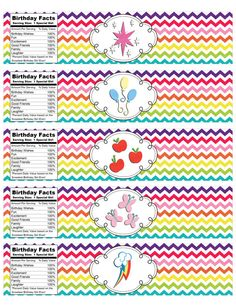 INSTANT DOWNLOAD My Little Pony Rainbow by IrrelephantDesigns, $3.50