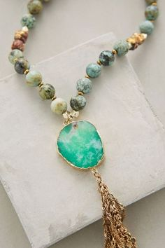 Sunshower Pendant Necklace #anthrofave: