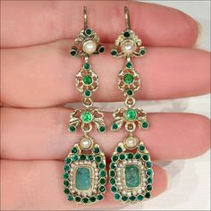 Antique Austro Hungarian Pearl and Emerald by VictoriaSterling