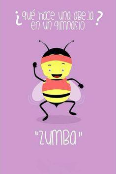 ¿Qué hace una Abeja en un Gimnasio ? Zumba... :P vía @Candidman