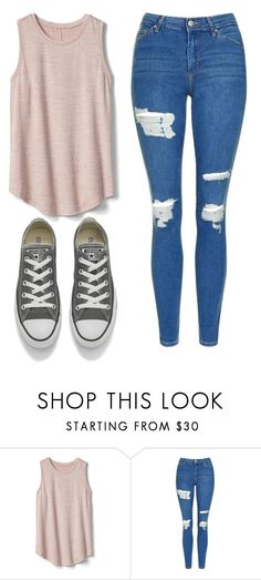"""Untitled #511"" by cuteskyiscute on Polyvore featuring Gap, Topshop and Converse"