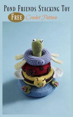Pond Friends Stacking Toy Free Crochet Pattern #freecrochetpatterns