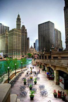 Riverwalk in Chicago, IL.
