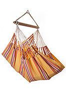 CAYO – CARNEVAL Hanging Chair Hammock  Some time spent in the HAMACA Cayo Hammock Chair is sure to lift your spirits, no matter what color you choose. This hanging chair is a soft and comfortable hideaway where you can relax and read, watch the clouds float by, or enjoy your favorite video. It is made from 100% recycled cotton which is comfortable, strong and good to the environment. Experience this hammock chair's incredibly cozy, closed-weave fabric indoors or out!
