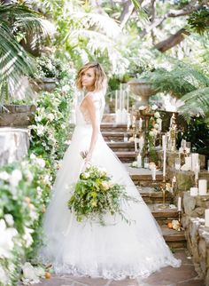 Photography : Rebecca Yale Photography | Wedding Dress : Monique Lhuillier | Floral Design : Emblem Floral Design Studio | Floral Design : Celadon And Celery Read More on SMP: http://www.stylemepretty.com/2015/08/28/wedding-planning-secrets-of-fashion-blogger-late-afternoon/