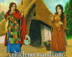 The Celtic Lenormand Oracle: Different Perspectives, Different Selves.  Two aspects of a woman's life...