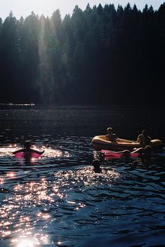 tubing and swimming in the lake on a hot summer day, sounds perfect.