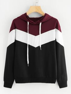 Shop Cut And Sew Drawstring Hoodie online. SheIn offers Cut And Sew Drawstring H - Sweat Shirt - Ideas of Sweat Shirt - Shop Cut And Sew Drawstring Hoodie online. SheIn offers Cut And Sew Drawstring Hoodie & more to fit your fashionable needs. Stylish Hoodies, Cool Hoodies, Colorful Hoodies, Hoodie Sweatshirts, Sweatshirts Online, Pullover Hoodie, Sweater Hoodie, Hoody, Sweat Cool