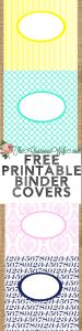 Free Printable Binder Covers or Folder covers- Different patterns and tons of colors, perfect for back to school! Print, label, and they're ready to use. These will definitely help you (and the kids!) get organized for back to school!