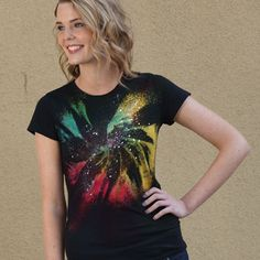 """Designer Laurie Eaton from iLoveToCreate came with an amazing idea of creating a """"galaxy"""" shirt. Today we share this super cool galaxy technique with you to try at home. You"""